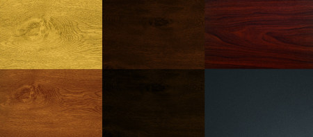 light oak, dark oak, rosewood, golden oak, night oak, titan metallic